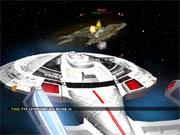 Bridge Commander combines tactical ship combat and adventure elements.