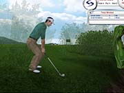 In Tiger 2003, nearby foliage becomes semi-translucent so you can see through to your golfer.