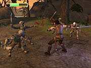 Four on one doesn't seem like a fair fight...for the orcs.