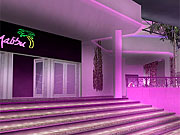 The glitzy settings in Miami Vice provided the inspiration for environments such as this.