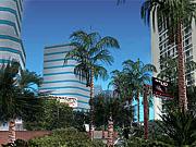 Glamorous resorts will line the main strip that runs along Vice City's beach.