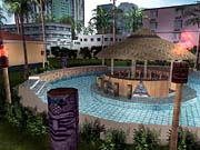 It wouldn't be a Miami-inspired city without tiki bars.
