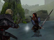 Aragorn's longsword will make quick work of this unprotected orc.