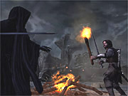 Aragorn is about to light up a ring wraith.