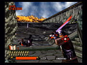 Ninja Assault was originally released as an arcade game in 2000, and its age is apparent by the game's rough graphical presentation.