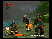 Light-gun veterans will probably be familiar with the gameplay in Ninja Assault even before they pick up their GunCon 2.