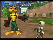 Ratchet's the one with the big ears, and Clank is the robot on his back.