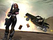 The emphasis in Brute Force will be on squad-based combat--and blowing up trucks.