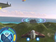 The Jedi Starfighter itself is a nimble craft--with a skilled pilot.