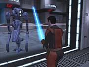 Lightsabers work wonders on pugilistic droids.