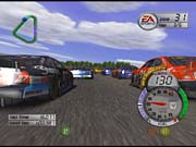 Even in the thick of a pack like this, NASCAR Thunder 2003 doesn't slow down a bit.