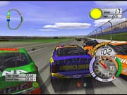 Crashes: the real reason anybody likes stock car racing. You'll see your share of crashes in Thunder 2003.