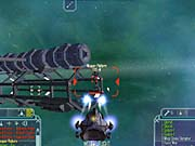 Concentrate on the weapons platforms using the shipyard as cover.