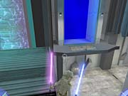 You'll need to backtrack a bit for this secret area. Jump from this position to the force field to find it.
