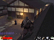 Crouching on a rooftop is an excellent way to remain hidden from nearby guards.