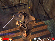 The guards that populate the castle are extremely tough. Look for every opportunity to execute a guard with a stealth kill.
