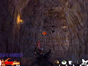 Watch your step throughout the caverns and grapple over pitfalls.