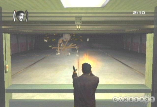 Your game begins in the shooting range. There are more than 10 targets so don't worry if you miss one or two.