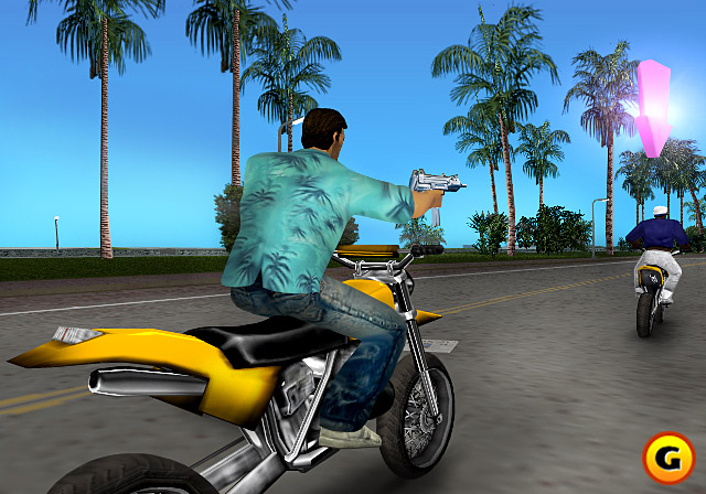 Bikes are a great way to get around in Vice City.
