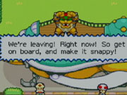 The gameplay in Mario and Luigi is, at its core, an action RPG in the same vein as the classic Super Mario RPG for the Super Nintendo and Paper Mario for the Nintendo 64.