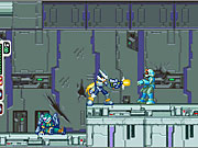 Zero's buster cannon can make short work of small enemies.