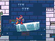 Riding up an ice platform and dodging spikes is all in a day's work for Zero.