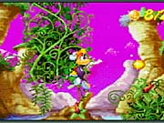 Rayman sports an updated look, appearing much as he does in the console version of Rayman 3.