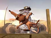The game's races are three-lap affairs that take you through a variety of themed courses.