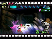 Viewtiful Joe is a polygonally rendered game, but the action takes place on a 2D plane.