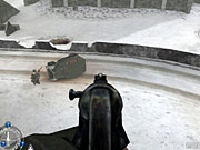 Call of Duty does an excellent job of modeling American, British, Russian, and German weapons of the era. You can shoot your weapon from the hip, aim down its sights, use it as a bludgeon, or change its firing mode, in some cases.