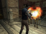 What would an Egyptian-themed horror game be without mummies and old-fashioned flamethrowers?