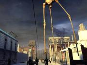 The huge strider can be seen stomping around City 17, the European city where the new game takes place.