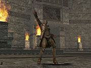 You'll be able to play characters of various different races and professions, such as this orc mage.