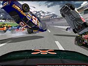 NASCAR Racing 2003 Season features an improved instant-replay option.