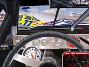 Though NASCAR Racing 2003 still doesn't show a driver's hands and arms, the cockpit is otherwise excellent.