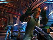Unreal II features the best-looking terrified scientists of any shooter to date.