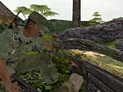 The enemy can attack from any direction in the jungles of 'Nam.
