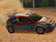 The cars in the game accumulate dirt as rallies progress.