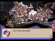 Disgaea has plenty of humor to go with all the battling and leveling up.