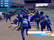 Pit stops are interactive. If you don't decrease the brakes, switch gears, and accelerate when prompted, you'll waste precious seconds.