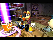 Rayman 3 expands considerably on the lead character's abilities.