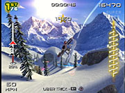 Unlike previous games, SSX3 is set on a single mountain that's composed of three peaks.