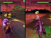 You'll likely have a better time in the two-player split-screen mode than against the cowardly AI.
