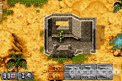 The top-down graphics and gameplay are reminiscent of classic games like Commando and Frontline.