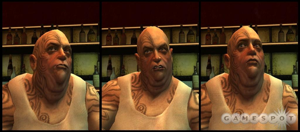 The Source engine allows for complex facial animation.