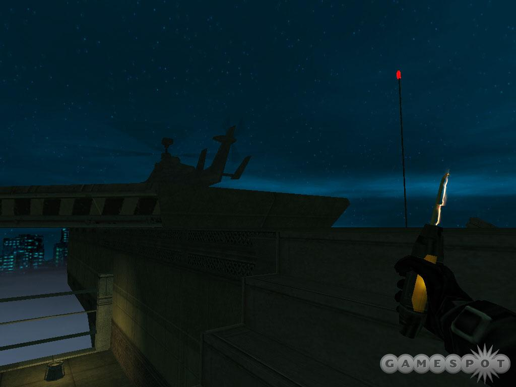 Before Ava can lift off in the helicopter, you must disable the missile batteries.