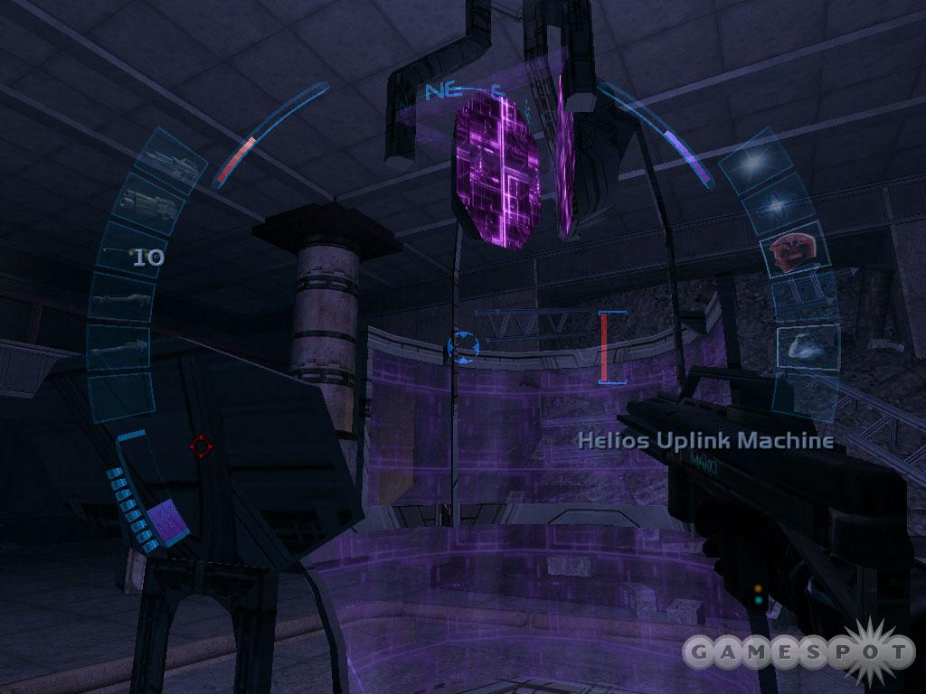 JC Denton's helios uplink machine plays a key role in the endgame. Some factions want it destroyed!