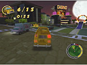 You can drive a bevy of different cars in the game, ranging from the basic Simpsons family sedan to Professor Frink's futuristic hovercar.