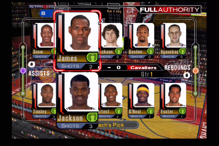 ESPN NBA 2K5's Full Authority mode lets you play the game, without having to play the game out.