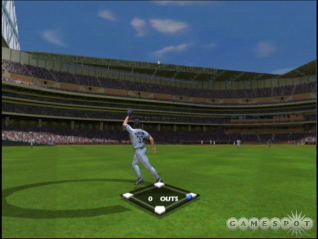 The close-up fielding camera puts you into the game.